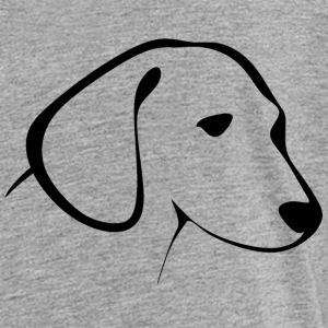Cute drawing of a puppy head - Toddler Premium T-Shirt