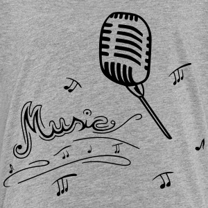 Microphone and music notes - Toddler Premium T-Shirt