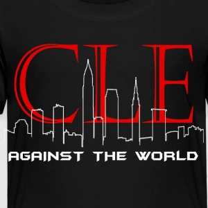 Cleveland Against the World Cityscape - Toddler Premium T-Shirt