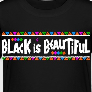 Black Is Beautiful (White Letters) - Toddler Premium T-Shirt