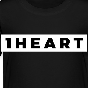 One Heart (Black/White Border) - Toddler Premium T-Shirt