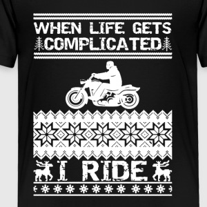 Biker Christmas Tee Shirt - Toddler Premium T-Shirt