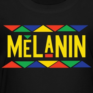 Melanin - Tribal Design (Yellow Letters) - Toddler Premium T-Shirt