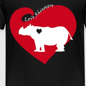 Love Rhinocero Tee Shirt - Toddler Premium T-Shirt