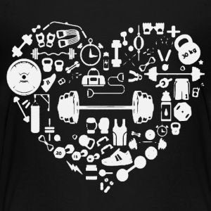 Weight Training Heart Tee Shirt - Toddler Premium T-Shirt
