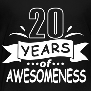 20 years of awesomeness - Toddler Premium T-Shirt