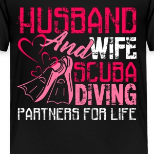 Husband Scuba Diving Partners For Life Shirt - Toddler Premium T-Shirt