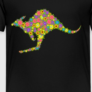 Kangaroo Flower Shirt - Toddler Premium T-Shirt
