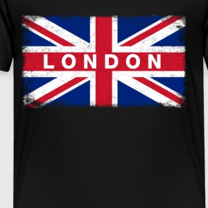 London Shirt Vintage United Kingdom Flag T-Shirt - Toddler Premium T-Shirt