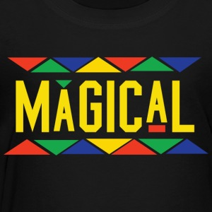 Magical Tribal Design (Yellow Letters) - Toddler Premium T-Shirt