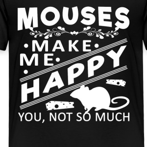 Mouse make me happy Shirt - Toddler Premium T-Shirt