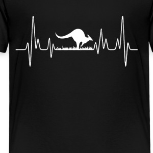Kangaroo Heartbeat Shirt - Toddler Premium T-Shirt