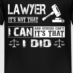 LAWYER TEE SHIRT - Toddler Premium T-Shirt