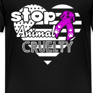 Animal Cruelty Awareness Shirt - Toddler Premium T-Shirt