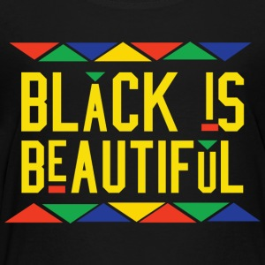 Black Is Beautiful (Yellow Letters) - Toddler Premium T-Shirt