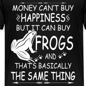 FROGS ARE MY HAPPINESS TEE SHIRT - Toddler Premium T-Shirt