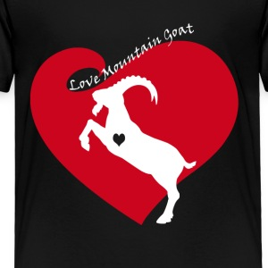 Love Mountain Goat Shirt - Toddler Premium T-Shirt