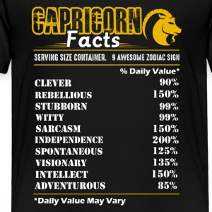 Capricorn Facts Tee Shirt - Toddler Premium T-Shirt