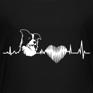 Border Collie Heartbeat Shirt - Toddler Premium T-Shirt