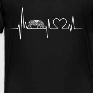 rhinoceros heartbeat shirt - Toddler Premium T-Shirt
