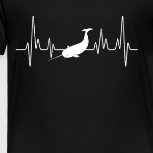 Narwhal Heartbeat Shirt - Toddler Premium T-Shirt