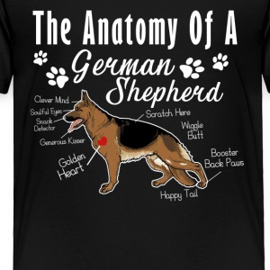 The Anatomy Of A German Shepherd Shirt - Toddler Premium T-Shirt