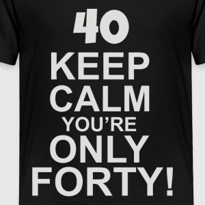 40th Birthday Present Forty - Toddler Premium T-Shirt