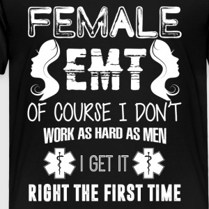 Female EMT Shirt - Toddler Premium T-Shirt