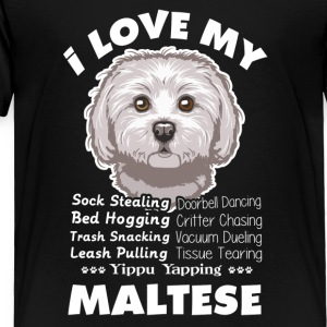 I Love My Maltese Cross - Toddler Premium T-Shirt