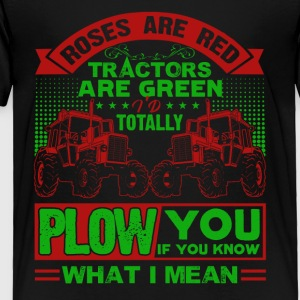 Farmer Roes Are Red Tractor Are Green Shirt - Toddler Premium T-Shirt