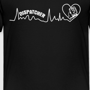 Dispatcher Heartbeat Shirt - Toddler Premium T-Shirt