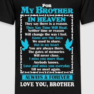 Brother In Heaven Shirt - Toddler Premium T-Shirt