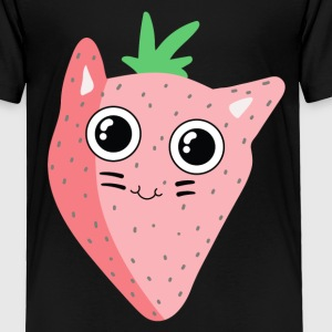Strawberry Cat - Toddler Premium T-Shirt