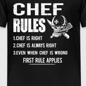 Chef rules T-Shirts - Toddler Premium T-Shirt