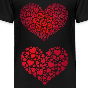 Valentine Hearts - Toddler Premium T-Shirt