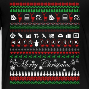 Math Teacher Christmas Shirt - Toddler Premium T-Shirt