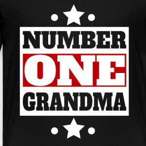 Number One Grandma Retro Style Grandparent's Day - Toddler Premium T-Shirt