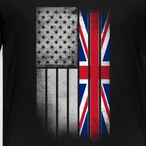 British American Flag - Toddler Premium T-Shirt