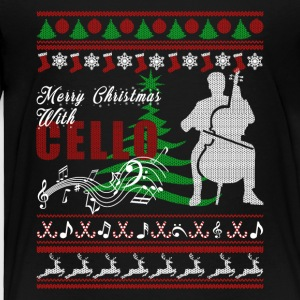 Cello Shirt - Cello Christmas Shirt - Toddler Premium T-Shirt