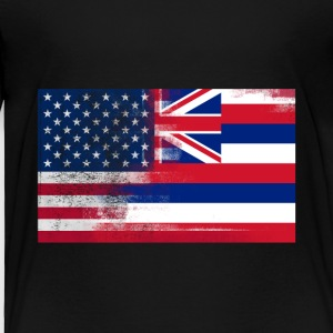Hawaii American Flag Fusion - Toddler Premium T-Shirt