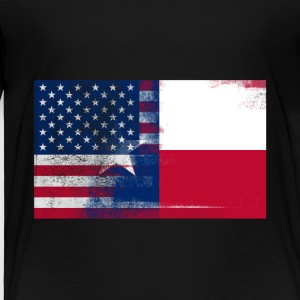 Texas American Flag Fusion - Toddler Premium T-Shirt