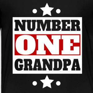 Number One Grandpa Retro Style Grandparent's Day - Toddler Premium T-Shirt