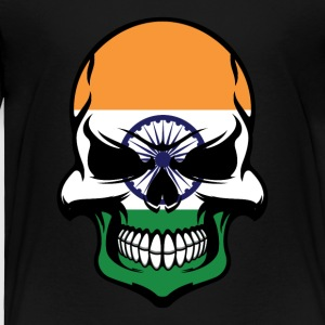 Indian Flag Skull Cool India Skull - Toddler Premium T-Shirt