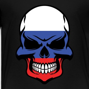 Russian Flag Skull Cool Russia Skull - Toddler Premium T-Shirt