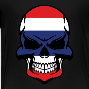 Thai Flag Skull Cool Thailand Skull - Toddler Premium T-Shirt