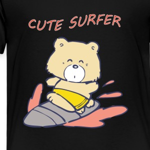 CUTE SURFER Bear - Toddler Premium T-Shirt