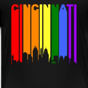 Cincinnati Ohio Rainbow LGBT Gay Pride - Toddler Premium T-Shirt