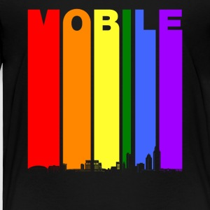 Mobile Alabama Skyline Rainbow LGBT Gay Pride - Toddler Premium T-Shirt