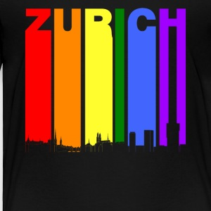 Zurich Switzerland Skyline Rainbow LGBT Gay Pride - Toddler Premium T-Shirt
