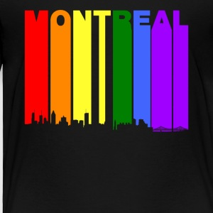 Montreal Quebec Skyline Rainbow LGBT Gay Pride - Toddler Premium T-Shirt